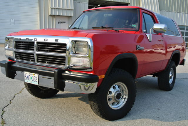 1993 Dodge Ramcharger LE Restored - Classic Dodge ...