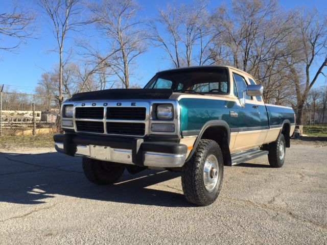 1993 dodge w250 4x4 cummins turbo diesel rust free 1st gen no reserve classic dodge other. Black Bedroom Furniture Sets. Home Design Ideas