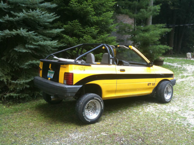 1993 ford festiva customized convertible 2 door 1 3l classic ford fiesta 1993 for sale. Black Bedroom Furniture Sets. Home Design Ideas