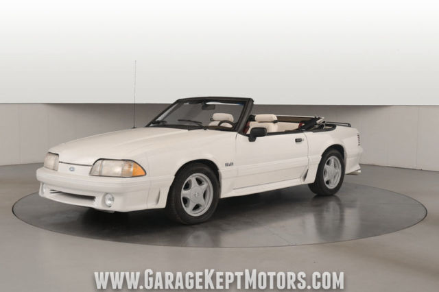 1993 Ford Mustang Gt Convertible White 5 0l V8 119 437