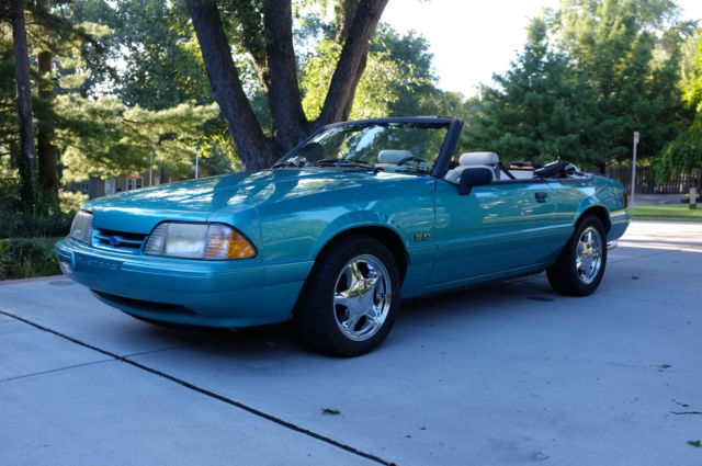 How To Clean Leather Car Seats >> 1993 Ford Mustang LX Convertible 2-Door 5.0L - Calypso Green - 5 Speed - Classic Ford Mustang ...