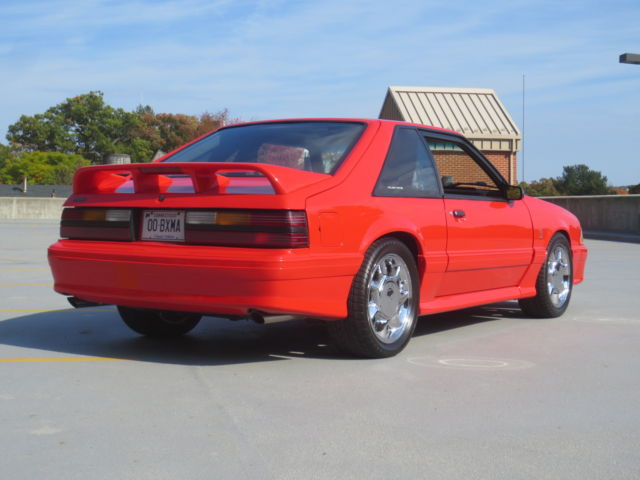 1993 ford mustang svt cobra vibrant red grey leather classic ford mustang 1993 for sale. Black Bedroom Furniture Sets. Home Design Ideas