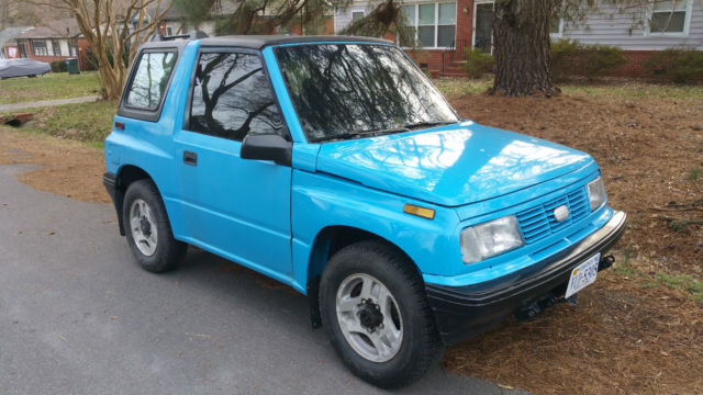 Geo Tracker Convertible Blue W Blue Seats Excellent Condition on Geo Tracker Interior