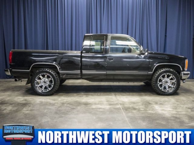 1993 gmc sierra 1500 sle 4x4 227141 miles black 5 7l v8. Black Bedroom Furniture Sets. Home Design Ideas