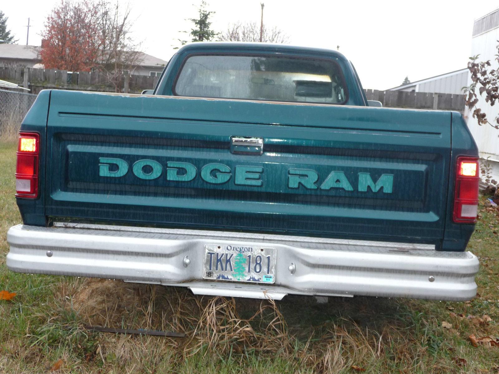 1993 Green Dodge Pickup Truck 4x2 Ram 150 Custom Classic 1949 D100