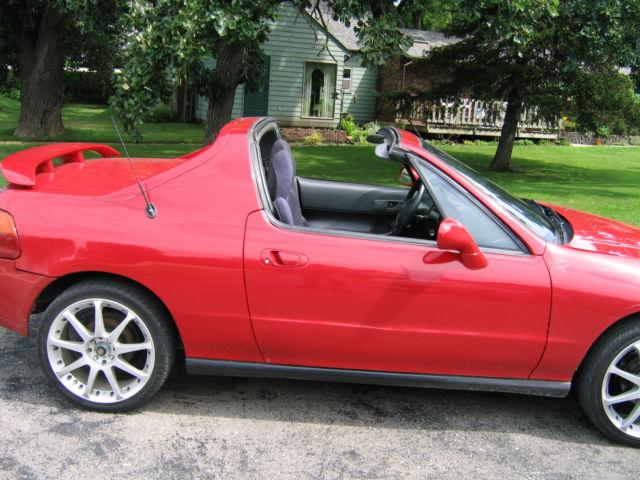 honda civic del sol red  cyl automatic ac  top convertible  seater classic honda del