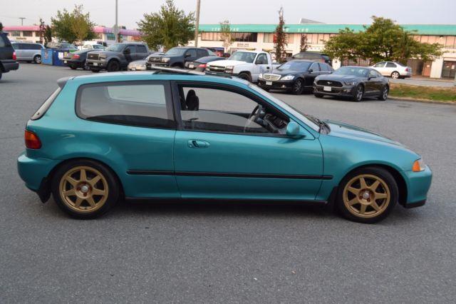 1993 Honda Civic Si Eg Hatchback No Reserve Hatch Manual