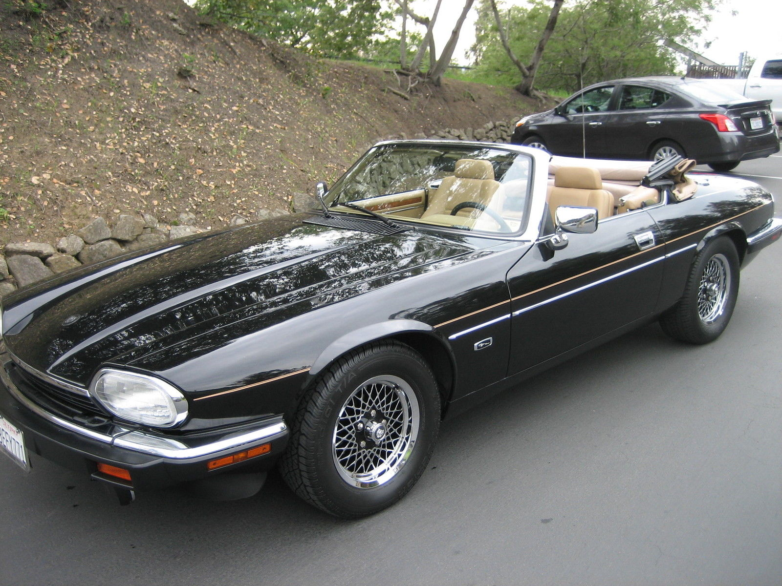 1993 jaguar xjs convertible 2 door 4 0l black tan power top all original classic jaguar. Black Bedroom Furniture Sets. Home Design Ideas