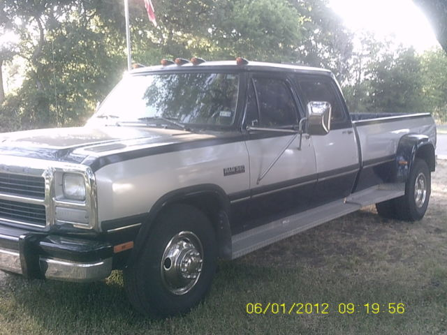 1993 Rare Dodge 4 Door Diesel Dually Classic Dodge Ram
