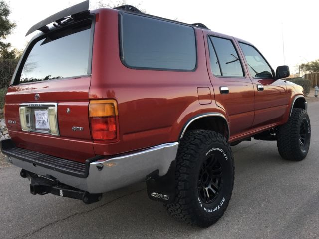1993 Toyota 4runner 4x4 V6 Auto Sr5 Super Clean Rust Free Gears 33 Tires Classic Toyota