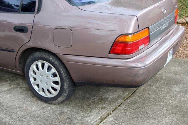 1993 Toyota Corolla DX 1 6L Base Sedan 69k Original Mi Granny-Owned