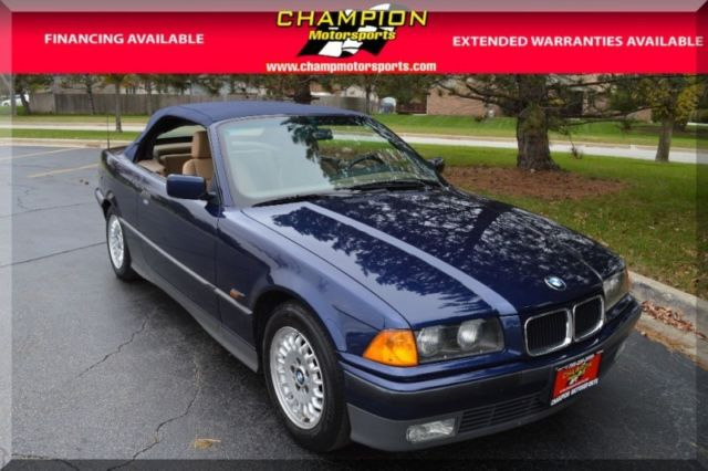 1994 BMW 3-Series 2dr Convertible 46259 Miles Mauritius Blue Metalic ...