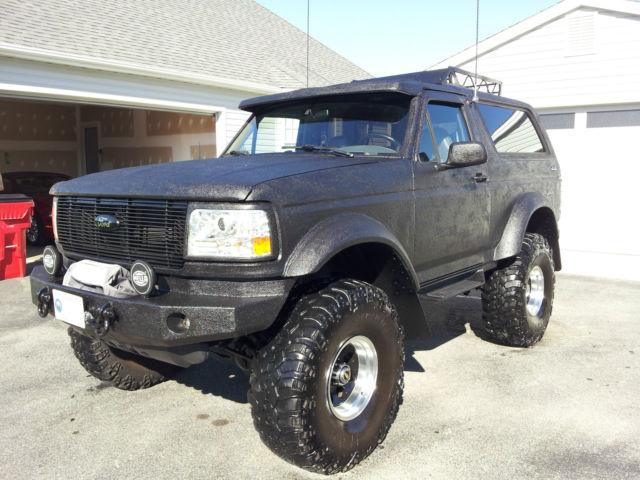 1994 Bronco  9 U0026quot  Lift  42 U0026quot  Swampers  Lthr  Locking Diffs