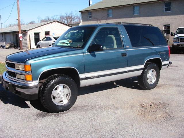 1994 Chevrolet Blazer 4WD Silverado 2-Door 6.5L Turbo diesel 120K RARE FIND - Classic Chevrolet ...