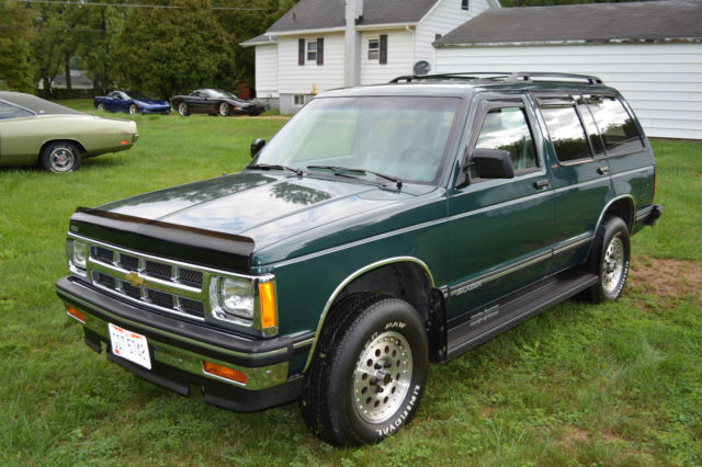 1994 Chevrolet S-10 Blazer One Of A Kind 2 Owner 15 700 Miles 4 3l V6 Solid 4x4