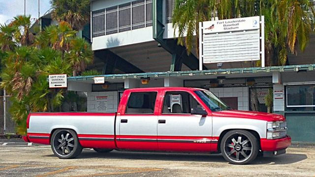 Chevy Silverado For Sale >> 1994 Chevy crew cab 3500 lowered 22s/24s sema 454 big ...