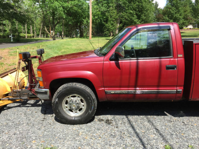 1994 Chevy Silverado 2500 Snow plow Utility Truck ...