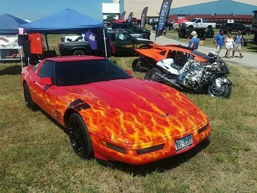 1994 Corvette Custom painted Flames,Hot Rod, Rat Rod ...