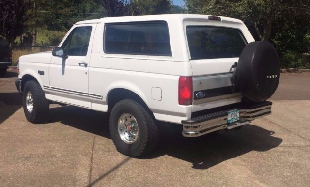 1994 ford bronco 105 wb eddie bauer xlt classic ford bronco 1994 for sale. Black Bedroom Furniture Sets. Home Design Ideas