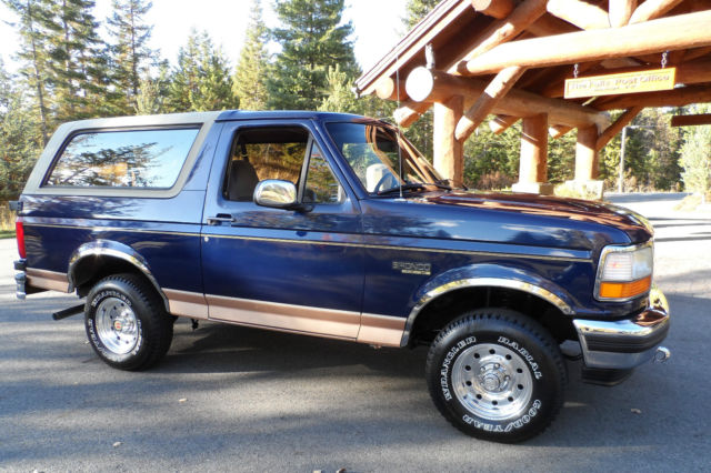 1994 ford bronco eddie bauer all original survivor loaded with owner 39 s manuals classic ford. Black Bedroom Furniture Sets. Home Design Ideas