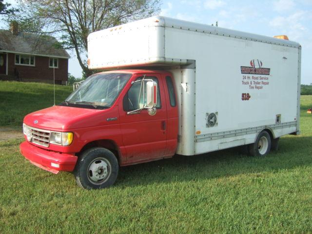 1994 Ford E 350 Van Moving 17 Box Truck 7 3 Diesel