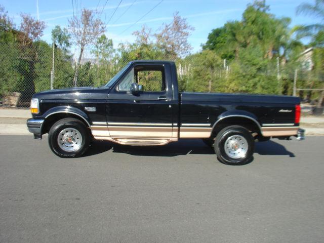 Ford F Black Short Bed Single Cab Eddie Bauer