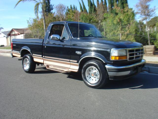 1994 Ford F 150 Black Short Bed Single Cab Eddie Bauer 1996 1995