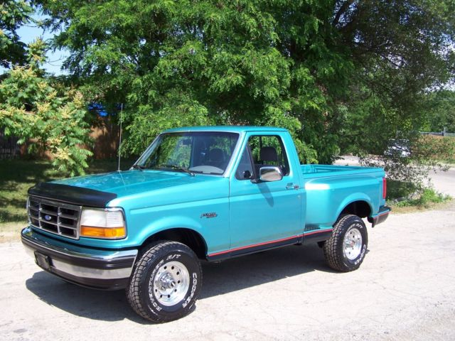 Ford F Xlt Regular Cab Flareside X Short Bed Truck L V Clean Rare on 1994 Ford F 150 Automatic Transmission