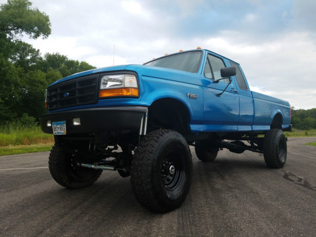 1994 Ford F250 Obs 4x4 Lifted Ext Cab Long Bed Classic