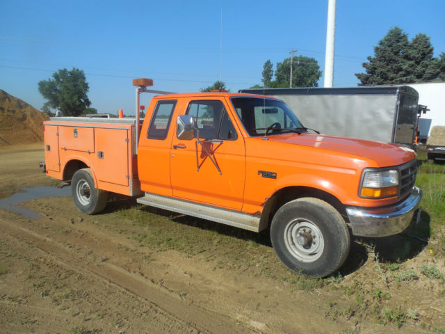1994 ford f250 xl with fiberline service body classic ford f 250 1994 for sale. Black Bedroom Furniture Sets. Home Design Ideas