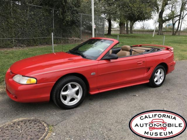 1994 ford mustang gt convertible red v8 automatic. Black Bedroom Furniture Sets. Home Design Ideas