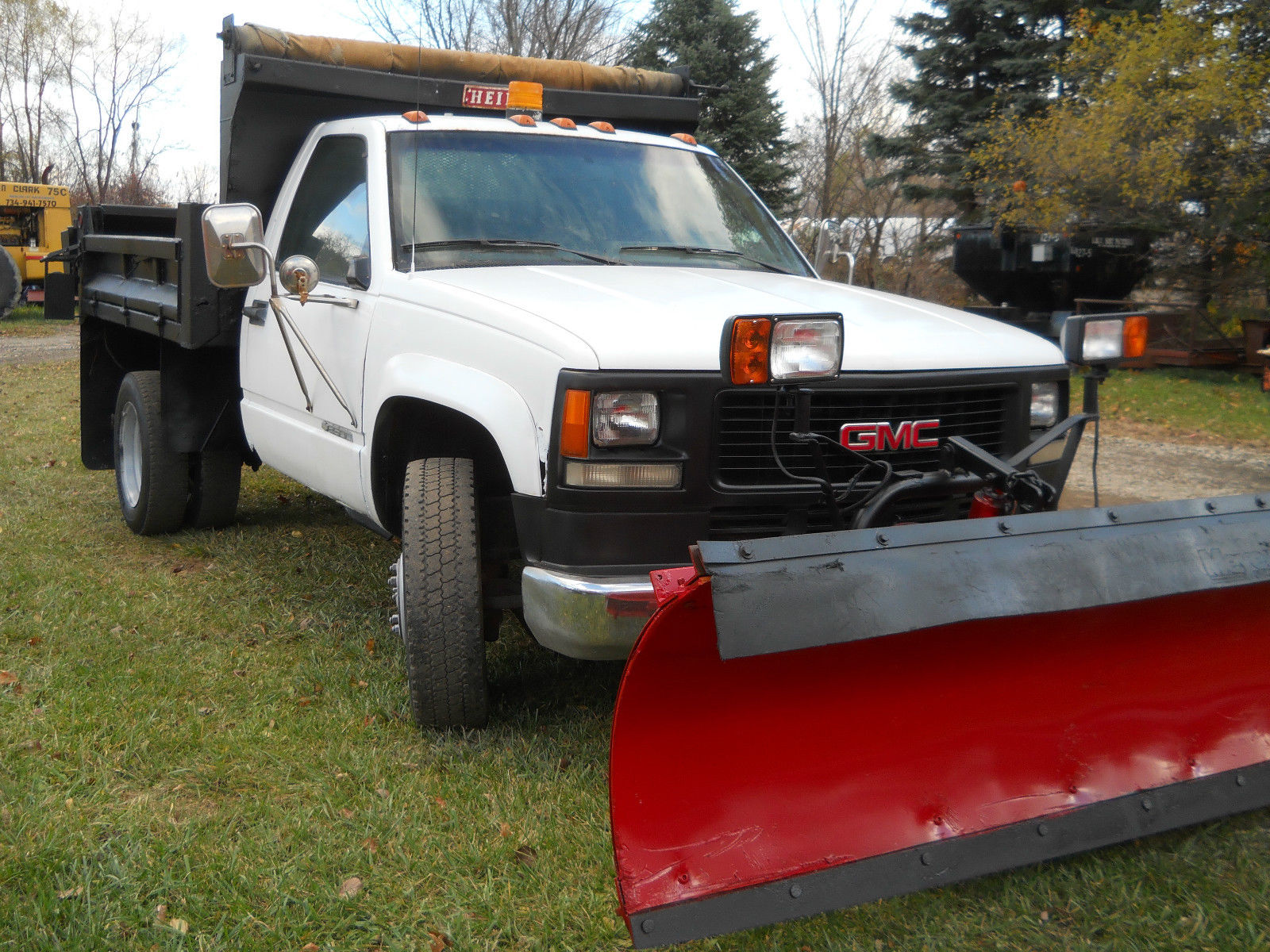 1994 GMC 3500HD 3-5 YARD DUMP TRUCK W/ 8 1/2FT MEYERS SNOW ...