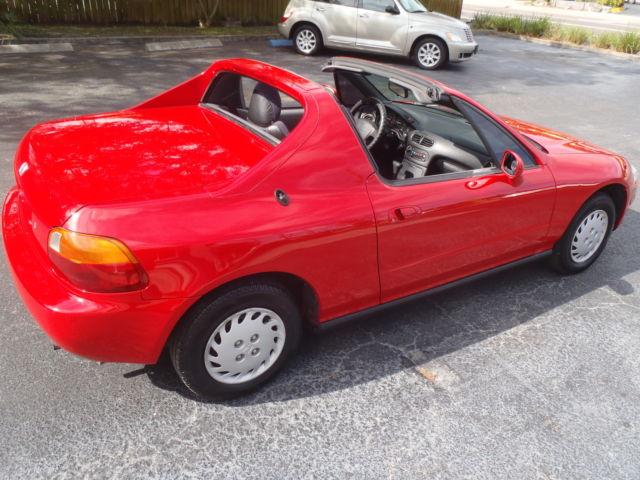 1994 Honda Civic Del Sol red 4 cyl automatic a/c t-top convertible 2 seater - Classic Honda Del ...