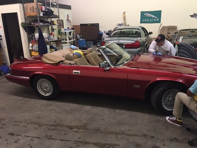 1994 jaguar xjs 4 0 in line 6 cylinder flamenco red mica. Black Bedroom Furniture Sets. Home Design Ideas