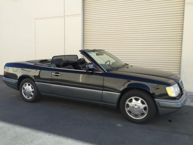 1994 mercedes benz e320 cabriolet w124 triple black for Mercedes benz e320 convertible for sale