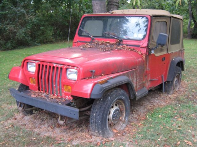 1994 Red Jeep Wrangler Classic Jeep Wrangler 1994 For Sale