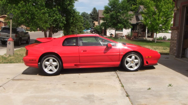 1994 Red Lotus Esprit S4 Turbo 5 Speed Fast And Fun With Only 40k