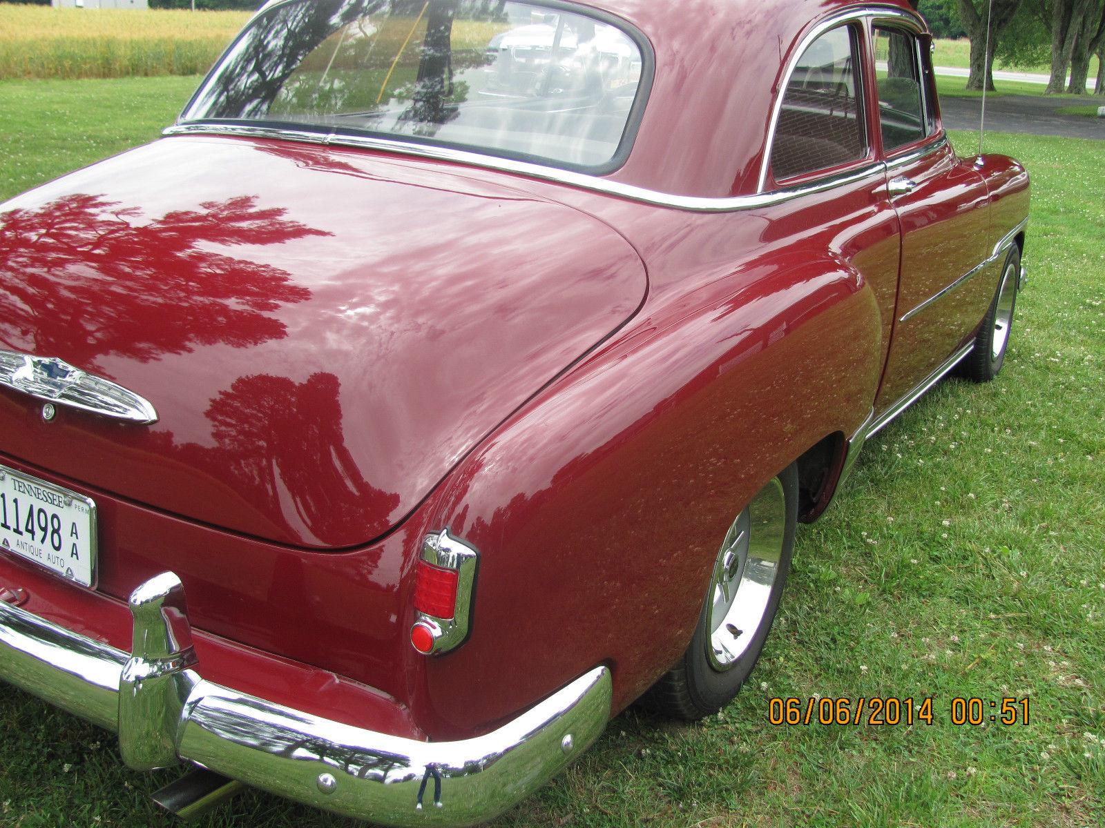 2 Door Maroon With Gray Interior Classic Chevrolet Bel Air 150 1951 4 210