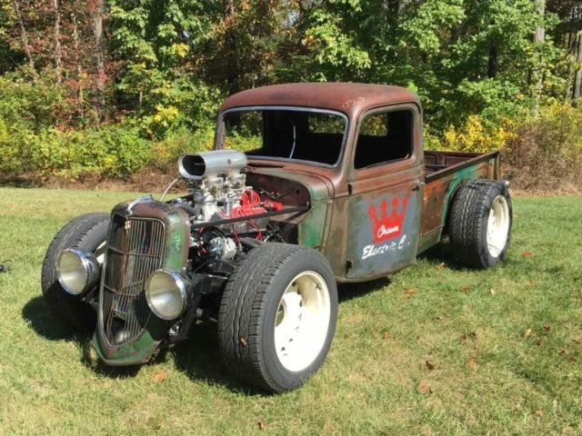 36 Ford Pick Up Crown Electric Hot Rod Rat Street Patina