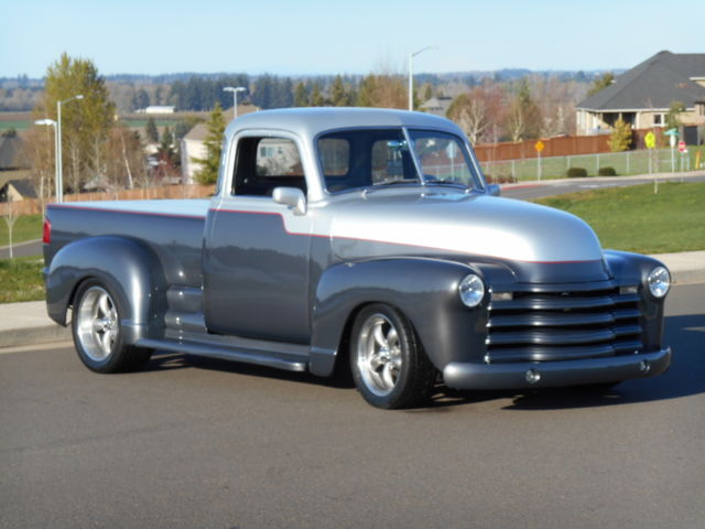 49 chevy pickup   total polished c4 vette running gear  new