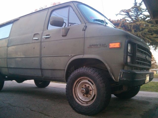 4x4 chevy van 3 4 ton 5 7l v8 3 lift super rugged in great shape classic. Black Bedroom Furniture Sets. Home Design Ideas
