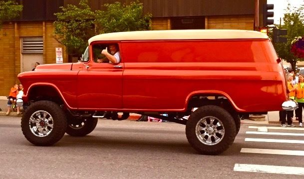 How Much Does It Cost To Register A Car >> 4x4 custom GMC 1958 pannel Hotrod streetrod Vintage ...