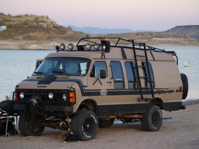 4x4 van dodge ramcharger van 1984 four wheel drive van monster truck rv classic dodge ram. Black Bedroom Furniture Sets. Home Design Ideas