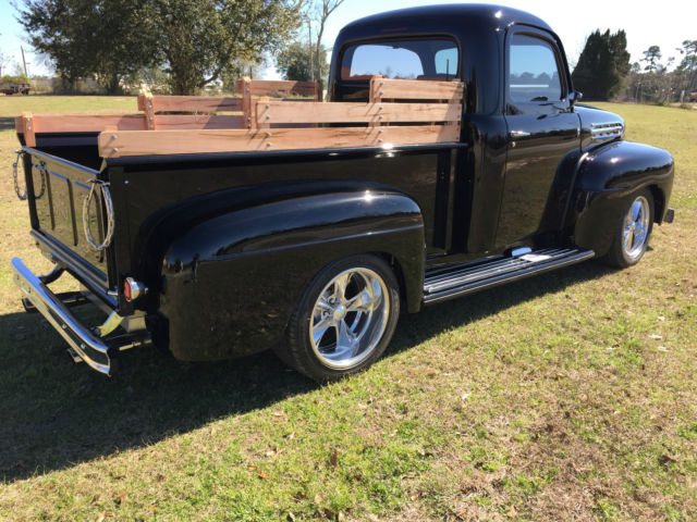 52 Ford F1 Pickup Black New V8 Show Quality A C