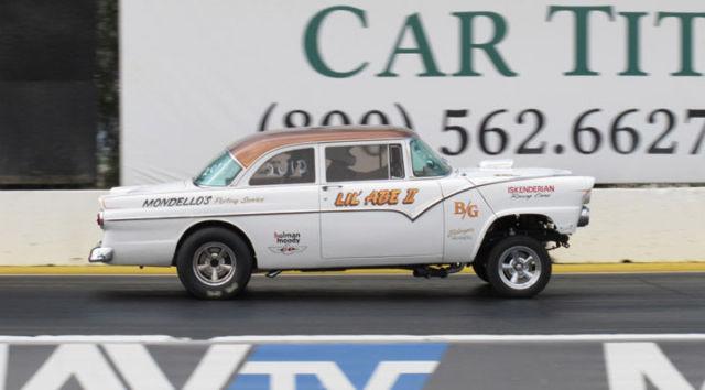 55 Ford 2dr Club Sedan Street Gasser Hot Rod Race Car