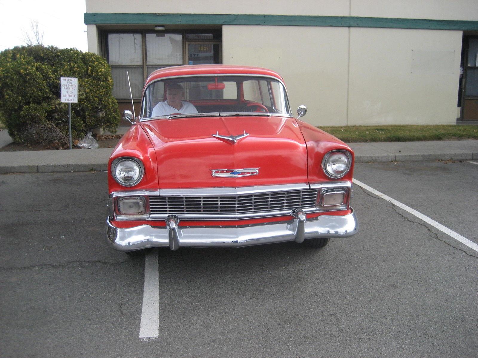 56 Chevy 2 Door Wagon 350motor 4speed Classic Chevrolet