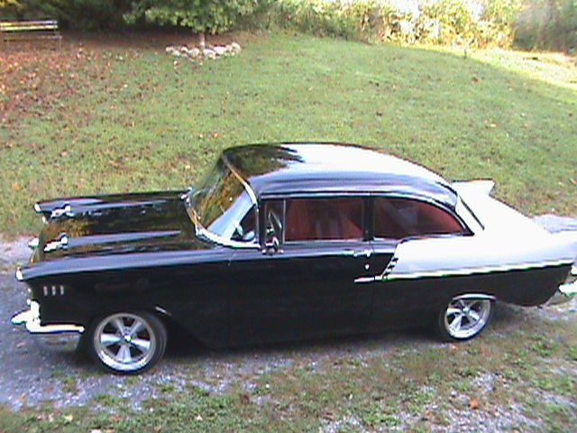 Chevy Black And Silver With Red Interior Frame Off Restoration