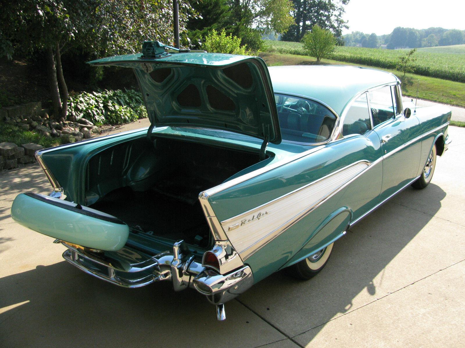 57 Chevy Belair 2 Door Hardtop Restored Beautiful Vintage 1957 Bel Air Retro Sharp