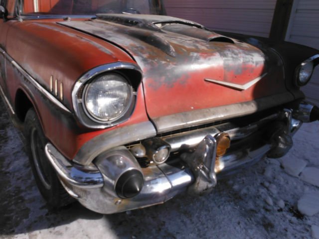 57 CHEVY BELAIR NOMAD STATION WAGON PROJECT CAR 2 DOOR