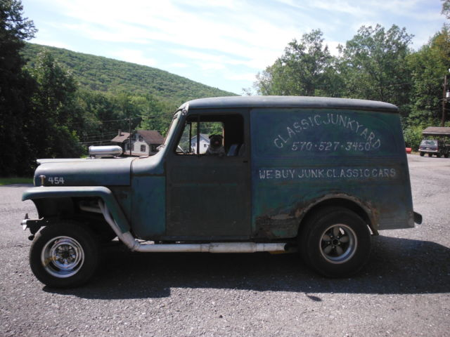57 Willys Delivery Straight Axle Gasser 2wd Panel Truck